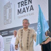 Presidente da banderazo a construcción del tramo de Izamal a Cancún del Tren Maya